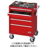 京都機械工具 ローラーキャビネット採用工具セット(レッド) SK3680RX 1組(直送品)