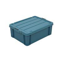 エスコ(esco) 624x450x227mm 収納ケース(バックル付/ブルーグリーン) 1セット(2個) EA506AB-43A(直送品)