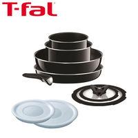 T-fal(ティファール)インジニオ・ネオ 9点セット ハードチタニウム・プラス (鍋 フライパン 取っ手のとれるタイプ)ガス火専用 L60991(わけあり品)