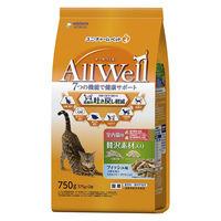 AllWell(オールウェル)キャットフード 室内猫用 贅沢素材入り フィッシュ味 750g(375g×2袋)国産 ユニ・チャーム