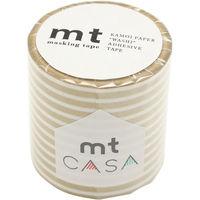 mt CASA 50mm ボーダー・金 MTCA5111 マスキングテープ カモ井加工紙(直送品)