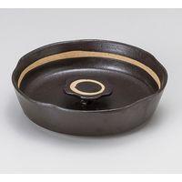 みのる陶器 黒オリベ花型6寸灰皿 4965583901440 1セット(2個入)(直送品)