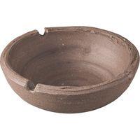 みのる陶器 手造り黒土 ソギ灰皿 4965583901488 1セット(3個入)(直送品)