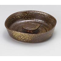 みのる陶器 備前風撫角6寸灰皿 4965583901433 1セット(2個入)(直送品)