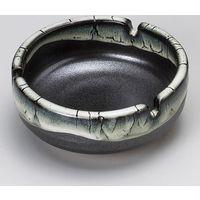 みのる陶器 黒流し鉄鉢三ッ切灰皿 4965583901501 1セット(3個入)(直送品)