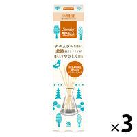 サワデー香るスティック 部屋用 つめ替用 北欧 リラクシングウッド 芳香剤 70ml×3個 小林製薬