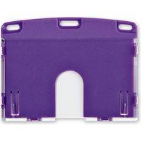 オープン工業 名札用ケース ハード(IDカード/ヨコ名刺) 紫 NX-103P-PR(直送品)