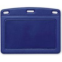 オープン工業 名札用ケース レザー調 ヨコ型(名刺サイズ) 青 NB-360-BU(直送品)