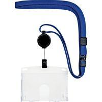 オープン工業 吊り下げ名札 リール式ハード(IDカード/名刺サイズ) 青 NL-7P-BU 1セット(3枚)