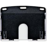 オープン工業 名札用ケース ハード(IDカード/ヨコ名刺) 黒 NX-103P-BK(直送品)