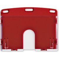 オープン工業 名札用ケース ハード(IDカード/ヨコ名刺) 赤 NX-103P-RD(直送品)