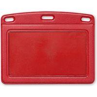 オープン工業 名札用ケース レザー調 ヨコ型(名刺サイズ) 赤 NB-360-RD(直送品)
