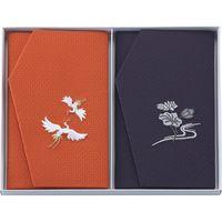 【ギフト包装】 かのこ織刺繍入金封ふくさセット 781 朱・紫(直送品)