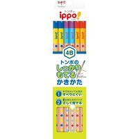 トンボ鉛筆 書き方鉛筆しっかり持てる六角軸014B KB-KG01-4B 2ダース(直送品)