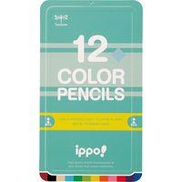 トンボ鉛筆 スライド缶入色鉛筆プレーンN0412C CL-RPN0412C(直送品)