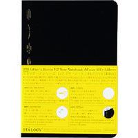 ニトムズ(nitoms) STALOGY 1/2イヤーノートA6ブラック S4115 1冊 146-0502(直送品)