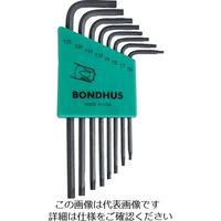 ボンダス(BONDHUS) ボンダス トルクス[[R]]L-レンチ ロング セット8本組(T6-T25) TLX8S 1組 810-8664(直送品)