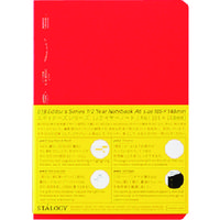 ニトムズ(nitoms) STALOGY 1/2イヤーノートA6レッド S4116 1冊 146-0516(直送品)
