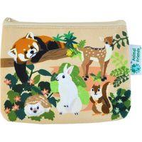 かなる Animal Friends カラーキャンバスミニポーチ ウッドランド B4235707(直送品)