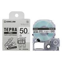 キングジム 「テプラ」PROテープカートリッジ 50mm幅 強粘着白ラベル SS50KW 1個