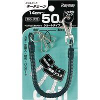 レイメイ藤井 コイルキーチェーン 50cm ブラック GLK253B 1セット(5個)(直送品)