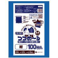 サンキョウプラテック 宅配袋つつめ〜るA4サイズ 0.060mm厚 紺色 THB-2832 1セット(1200枚:1袋100枚入×12袋)(取寄品)