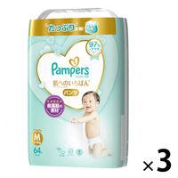 パンパース おむつ パンツ M(6~11kg) 1箱(64枚入×3パック) 肌へのいちばん ウルトラジャンボ P&Gの画像