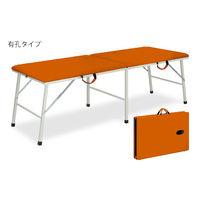 高田ベッド 有孔トライ 幅55×長さ190×高さ50cm オレンジ TB-252U 1個 63-0172-01(直送品)