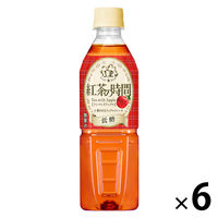 UCC上島珈琲 紅茶の時間 ティーウィズアップル 低糖 500ml 1セット(6本)