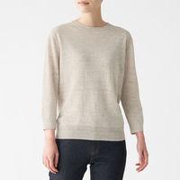 無印良品 UVカットフレンチリネンクルーネックセーター 婦人 M ベージュ 良品計画