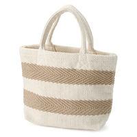 無印良品 インドの手織りミニトートバッグ(ヘリンボーン) 生成×柄 良品計画