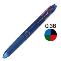 フリクションボール4 0.38mm ブルーブラック軸 紺 消せる4色ボールペン LKFB-80UF-BB パイロット