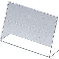 KMA L型カード立て ペット1T9568透明 SN79-1TE025-6CL-10 1セット(10個入)(直送品)