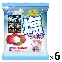 ぷるんと蒟蒻ゼリー パウチ ライチ【季節数量限定】 6袋 オリヒロ 栄養補助ゼリー