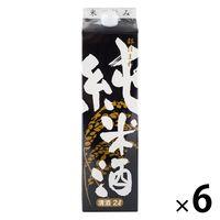 東亜酒造 都ほまれ 純米酒 パック2L 1セット(6本) 日本酒