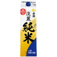 白鶴酒造 白鶴 上撰 サケパック 淡麗純米 1.8L 1本 日本酒
