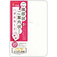 菅公工業 ハガキカード 角丸 20枚入 和紙 ア007 5束(直送品)