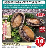 ササゲリバース 冷凍殻付き蝦夷あわび 50〜60g×10個 a21574 1個(直送品)