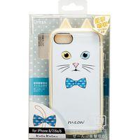 iPhoneケース iPhone8/7/6S/6 Ijoy(アイジョイ) KUSUKUSU ネコ耳 シロ i7S-KS04 1個 サンクレスト(直送品)