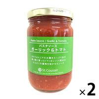 【ワゴンセール】サンクゼール パスタソース ガーリックトマト350g 【2個セット】