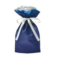 ササガワ 巾着袋 ネイビー 小 1P 50-4360 1セット:5枚 【1枚袋入×5枚袋入】(取寄品)