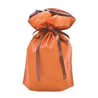 ササガワ 巾着袋 オレンジ 中 1P 50-4463 1セット:5枚 【1枚袋入×5枚袋入】(取寄品)