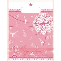 ササガワ デコラパック パリ・小 ピンク 35-9453 1セット:25枚 【5枚袋入×5冊袋入】(取寄品)