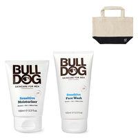 【敏感肌用セット】BULLDOG(ブルドッグ)洗顔料 + 保湿クリーム + ランチトートのおまけ付 スキンケア シック・ジャパン