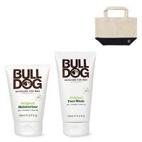 【普通肌用セット】BULLDOG(ブルドッグ)洗顔料 + 保湿クリーム + ランチトートのおまけ付 スキンケア シック・ジャパン