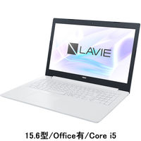 NEC LAVIE Direct 15.6型ノートPC Core i5 /Office有 ホワイト PC-GN164JDLF-AS4H 1台(わけあり品)
