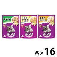 【お得なアソート】カルカン(kalkan)キャットフード パウチ まぐろシリーズ 70g 48袋(3種×各16袋)