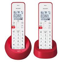 シャープ コードレス電話機 JD-S08CW-R (子機2台タイプ)