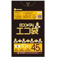 サンキョウプラテック 45L 10枚0.020mm厚 黒 LLDPE素材 UN-42 800枚入(1袋10枚入り×80袋)(取寄品)