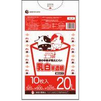 サンキョウプラテック 20L 10枚0.015mm厚 乳白半透明 HDPE素材 KS-24 1000枚入(1袋10枚入り×100袋)(取寄品)